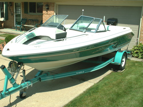 1992 sea ray 190 sk ob 19 fish and ski used excellent for Sea ray fish