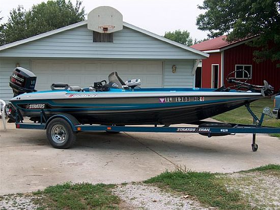 1994 stratos 285 xl 19 bass boat used excellent. Black Bedroom Furniture Sets. Home Design Ideas