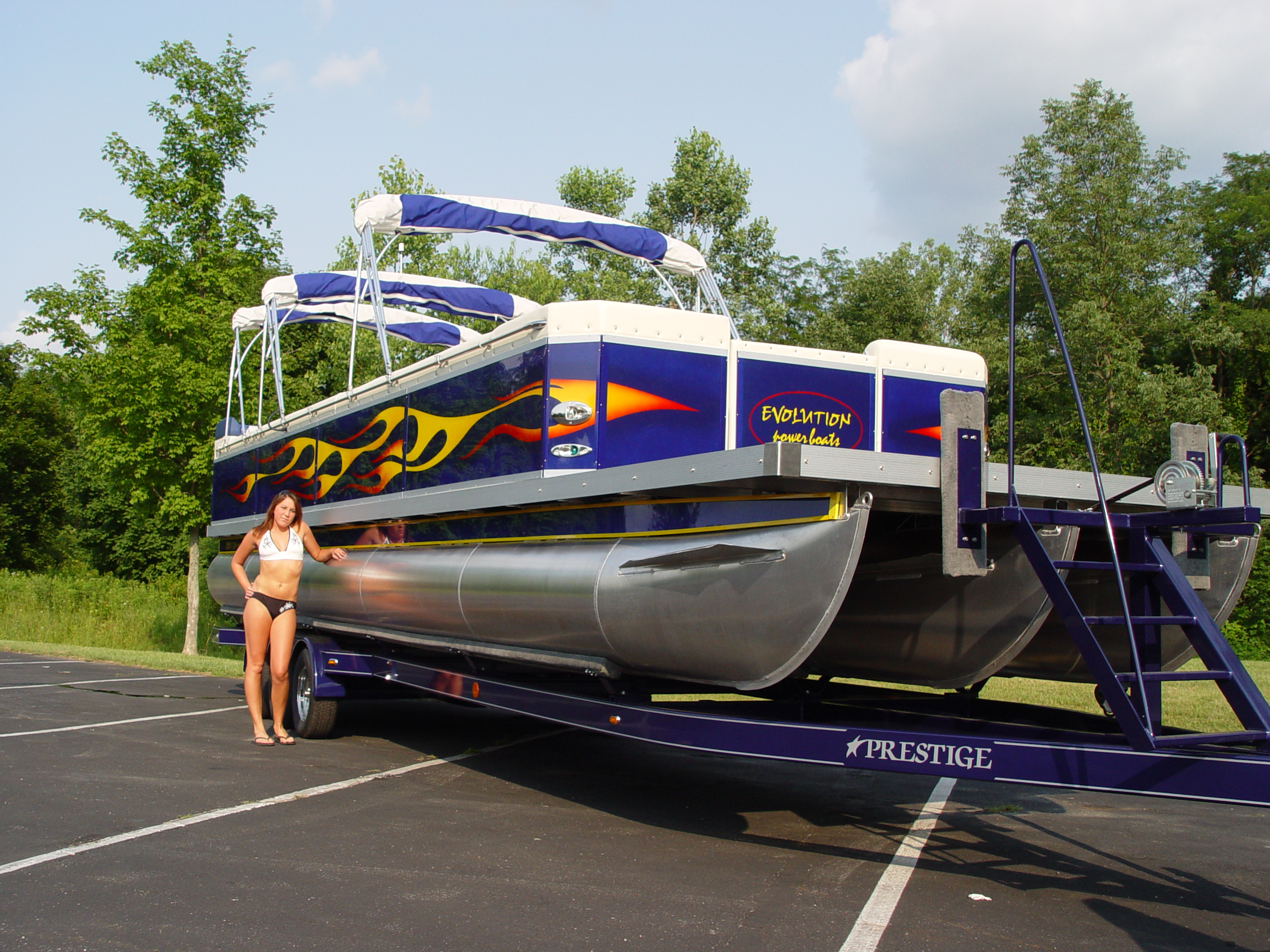 2007 Evolution Power Boat 34 34 Pontoon New Avidboater Com