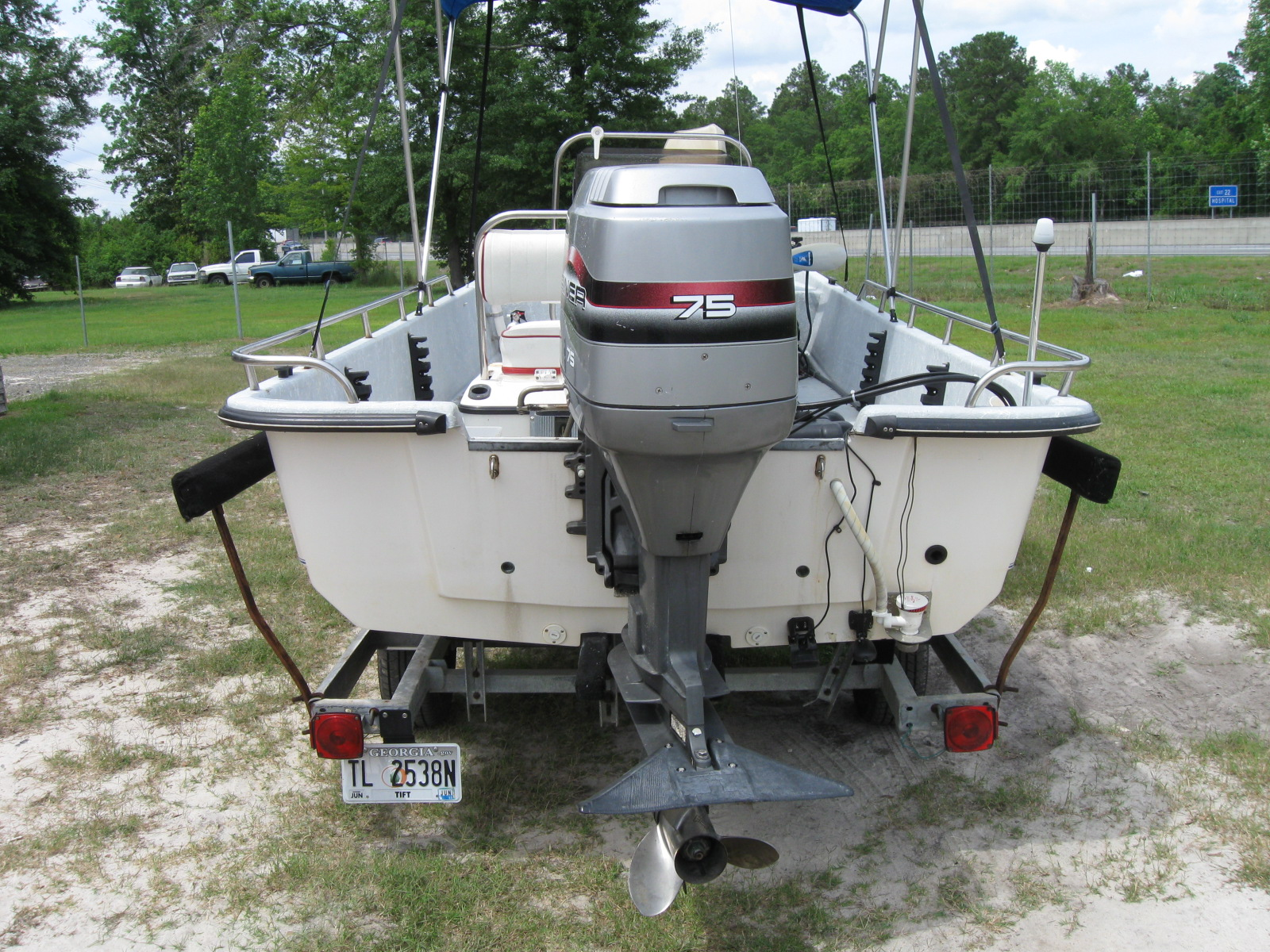 1997 Kenner Pro Skiff 17 17 Center Console Used Good